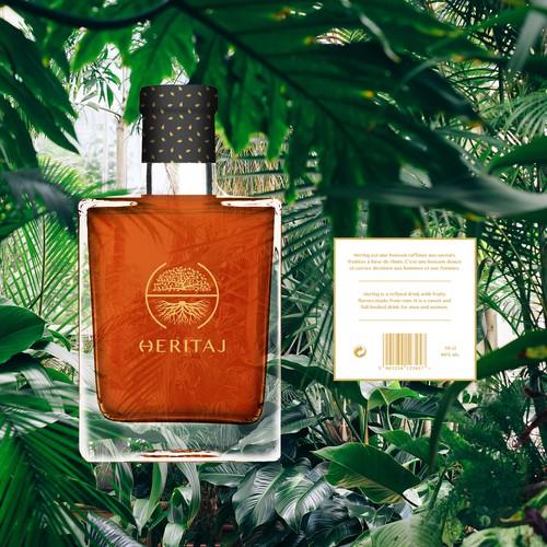Minimalist solution for tropical drink Heritaj