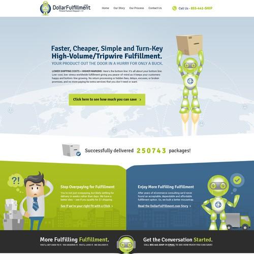 Creative Website Design For Dollar Fulfillment Co