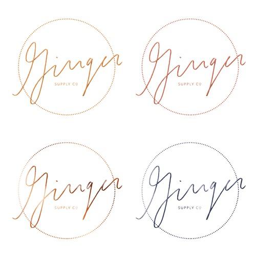 Ginger Supply Co Logo Options