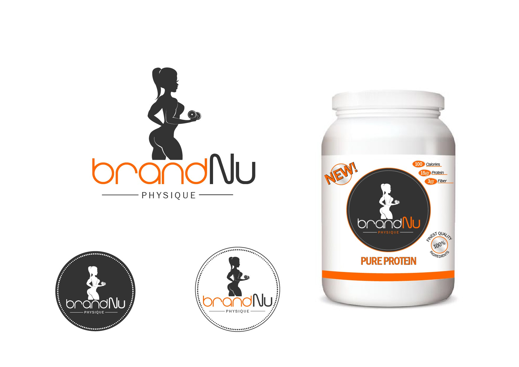 Create a contemporary logo for a fitness solutions company.