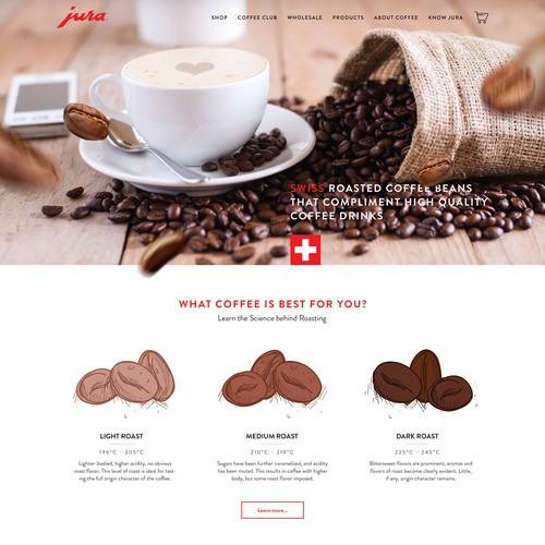 Luxury Coffee Boutique Web Design