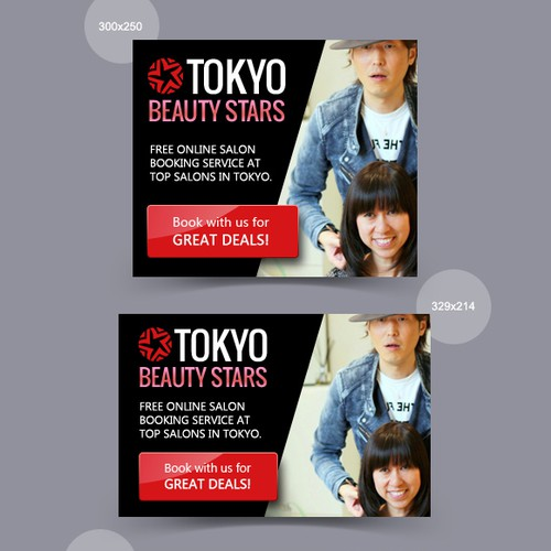 Banner ads design for Tokio Beauty Stars