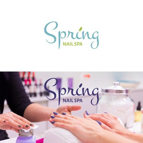 Nail spa logo design
