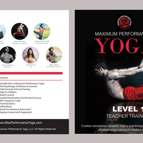 Create Front & Back Cover for Yoga Fitness Training Manual