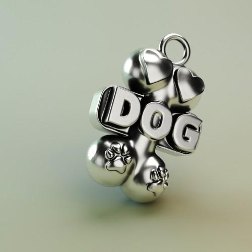 3d dog jewelry
