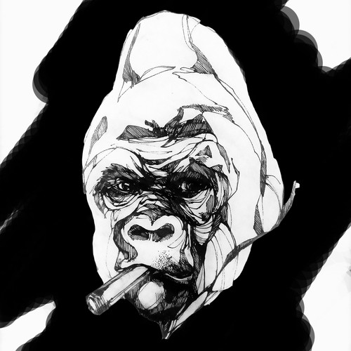 "design for ""gorilla with a cigar tattoo"""