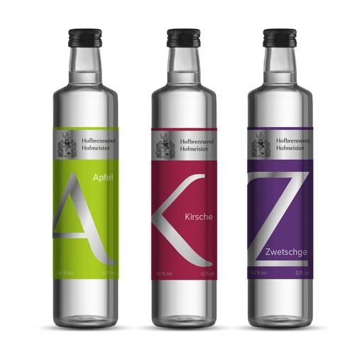 Traditionelle Destillerie möchte durch moderne Etiketten sein Flaschendesign aufpimpen