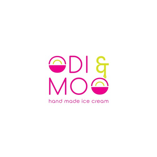 Logo concept for hand made ice cream