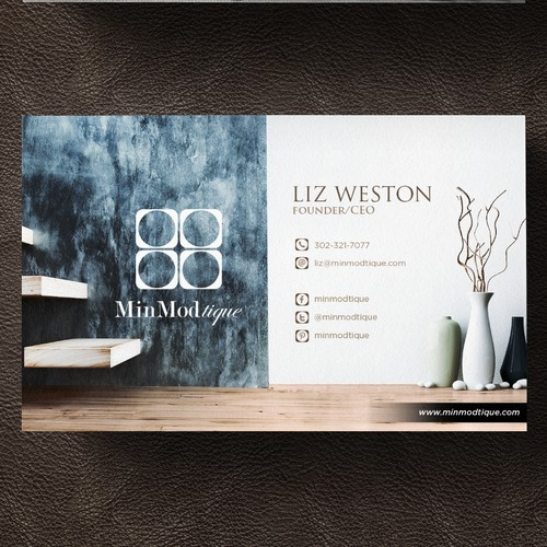 MinModtique - Bussines cards
