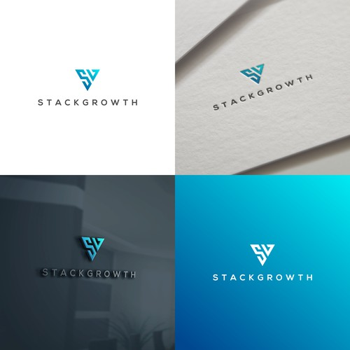 simple elegant logo for StackGrowth