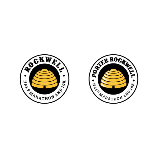 Logo for ROCKWELL 1/2 marathon and 10k.