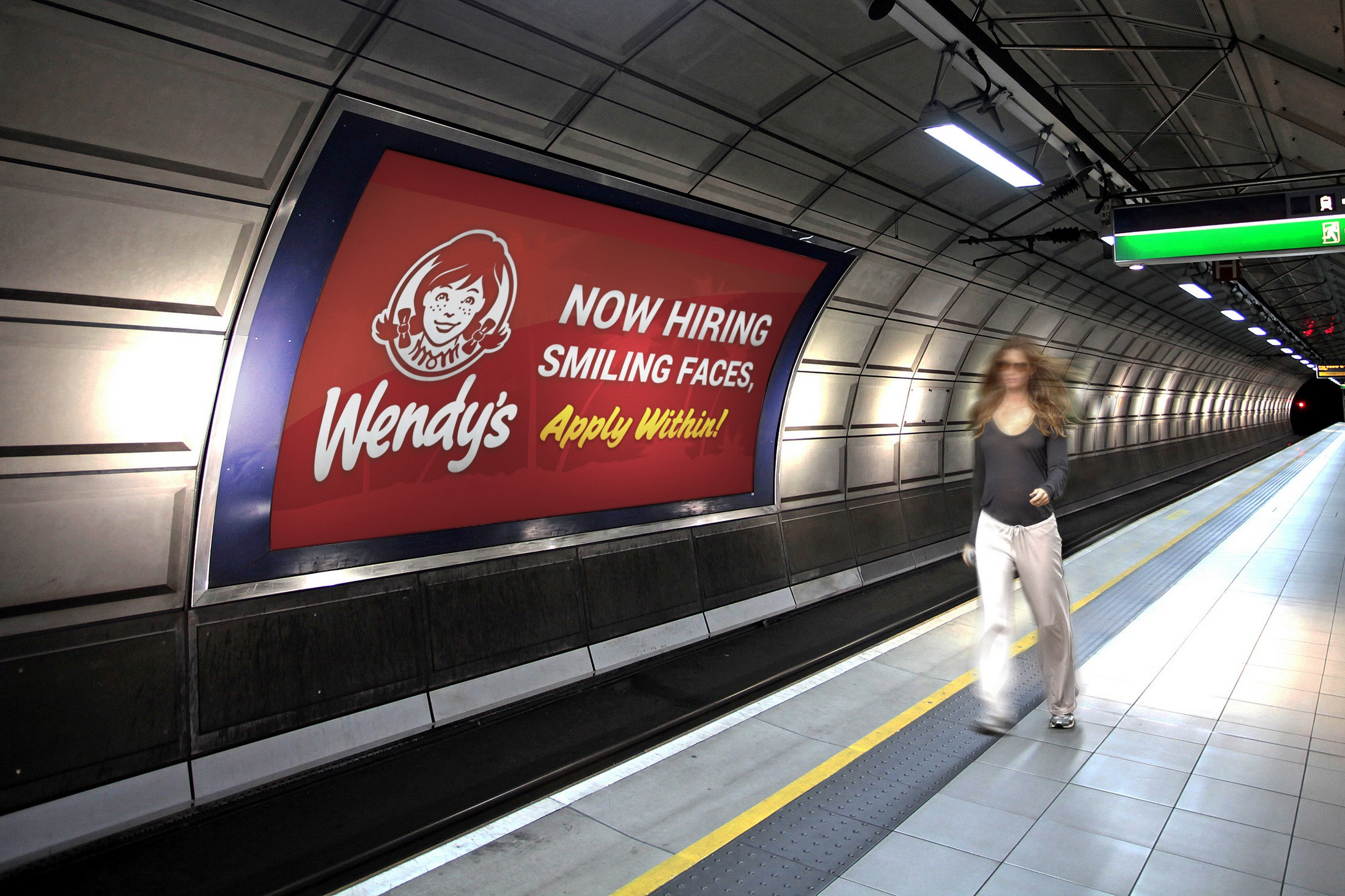 Make A Now Hiring Banner for Wendy's