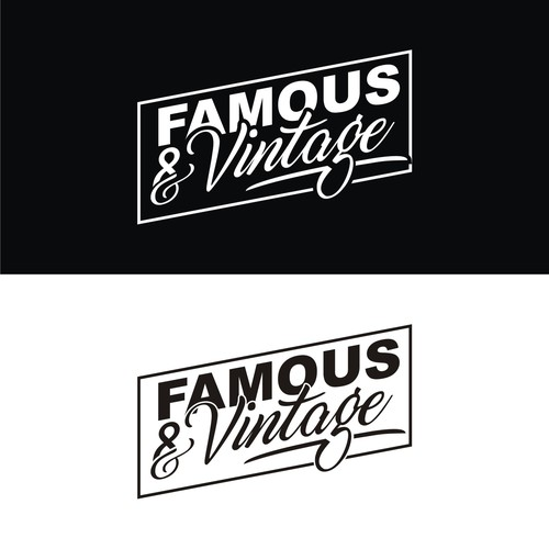 Vintage logo for Famous and Vintage