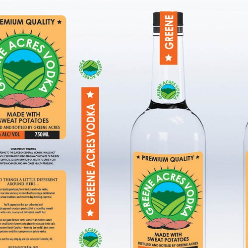 Greene Acres Vodka Needs a Label and Sleeve