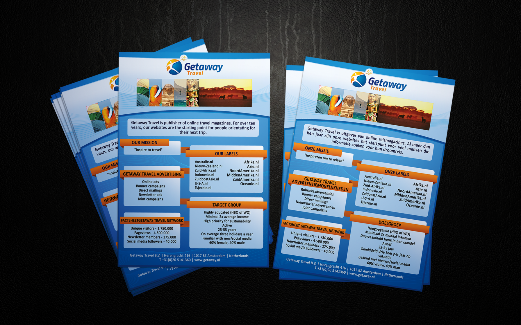 New stationery wanted for Getaway Travel b.v.