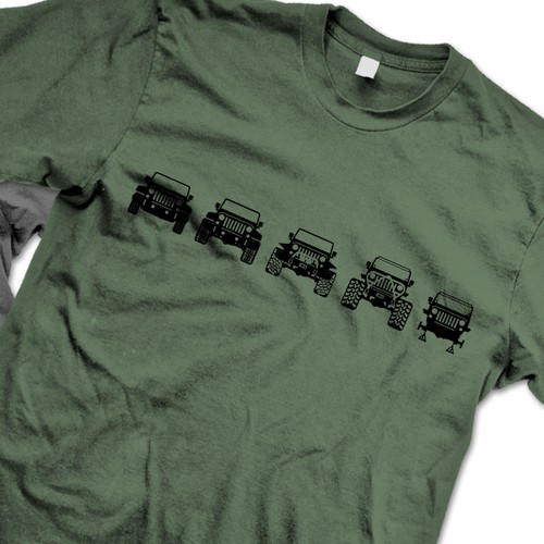 Evolution of Trail Jeeps Tee
