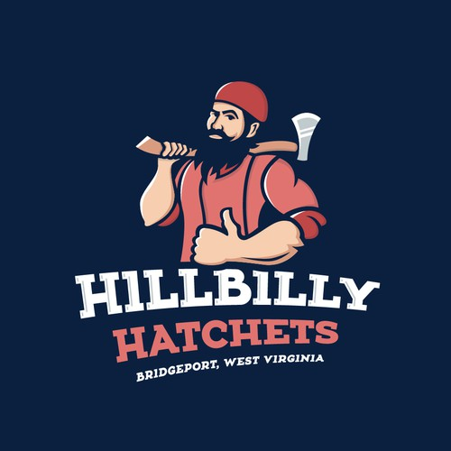 Fun logo for HILLBILLY themed axe throwing business