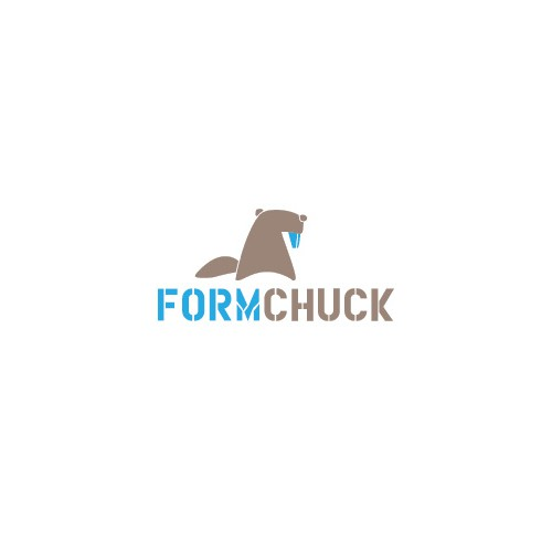 Create a cute woodchuck animal logo for FormChuck