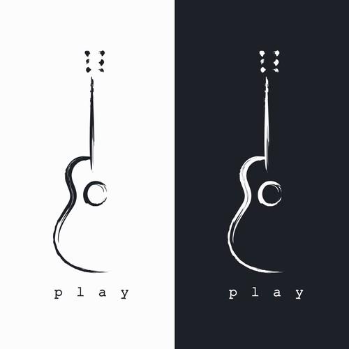 simple guitar icon