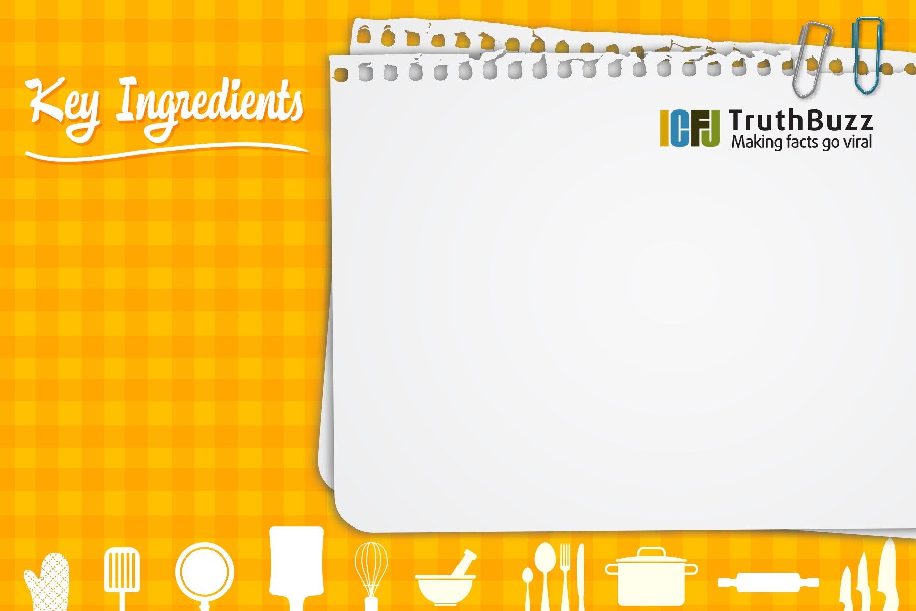 """Help ICFJ spread """"recipes"""" for success in fact-checking"""