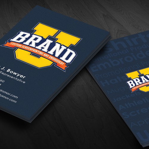 BrandU needs a new business card design.