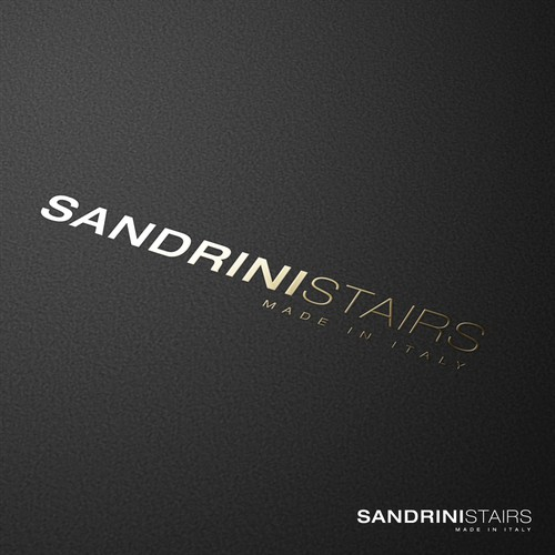 minimalist typhography logo for sandrinistairs