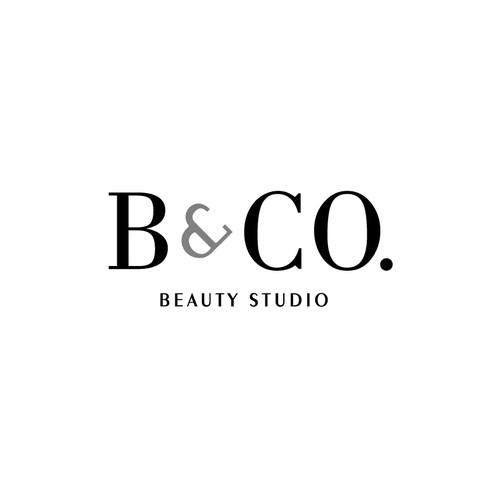 Black n White logo for a Beauty Studio