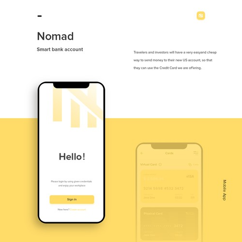 Nomad - Smart bank account