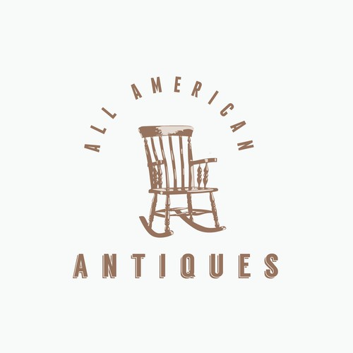 Logo for an antique store