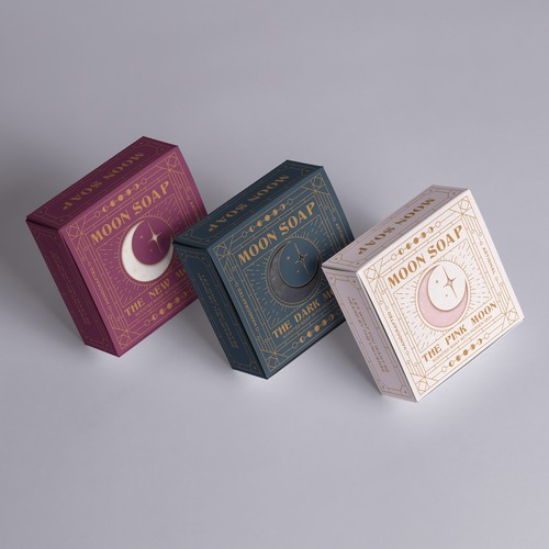 Celestial and Art Deco-Inspired Soap Packaging
