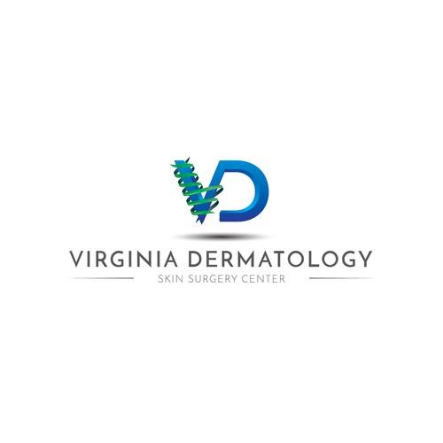 Logo for a dermatology center