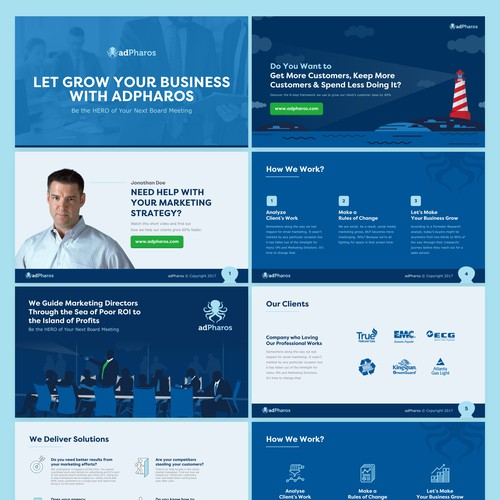 PowerPoint Template ReDesign for AdPharos