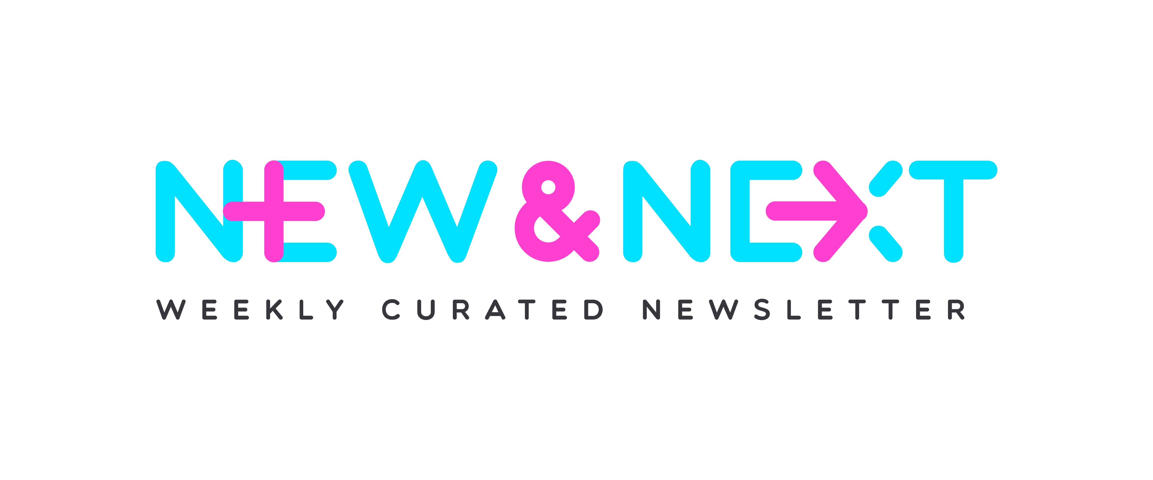 "Design a fun logo for a weekly newsletter, called ""The New and the Next"""
