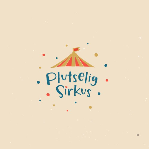 Inspiring logo for the Norwegian Circus ensemble Plutselig Sirkus!