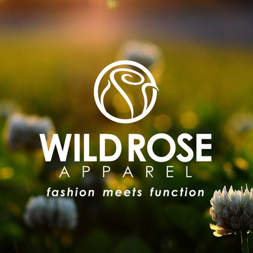 Simple Rose Logo for Female Outdoor Apparel