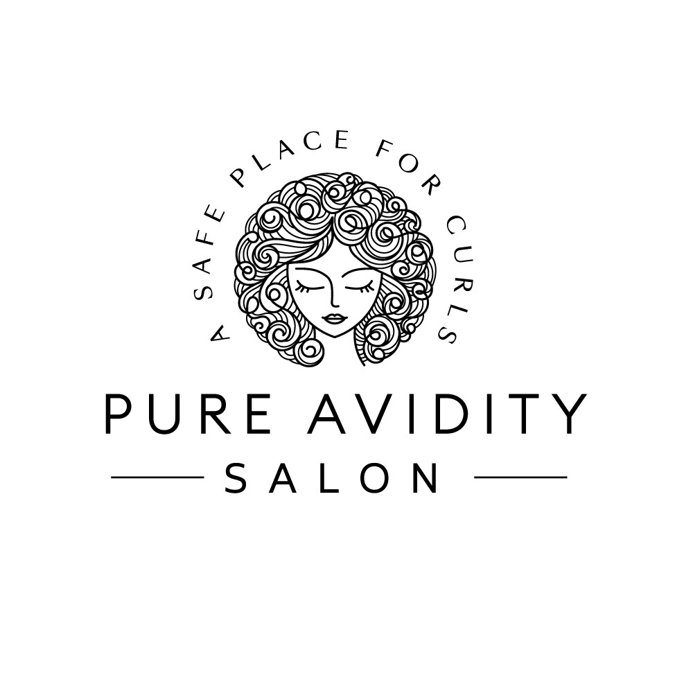 Logo for curly hair specialist
