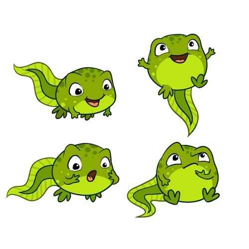 Tadpole mascot character