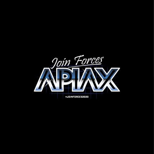 Apiax 80's hoodie logo design