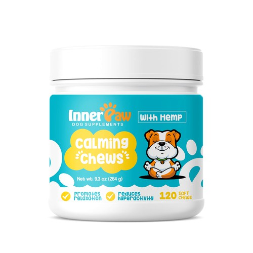 Dog Health Supplement Chews Label Designs