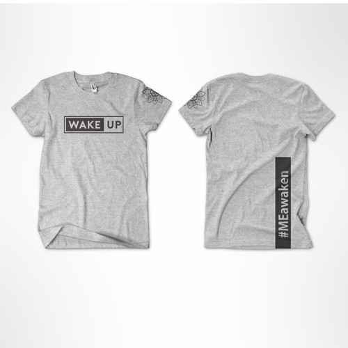 "T Shirt Design for Spiritual ""Wake Up"""