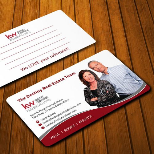 Realtors want business card that really STANDS OUT!!