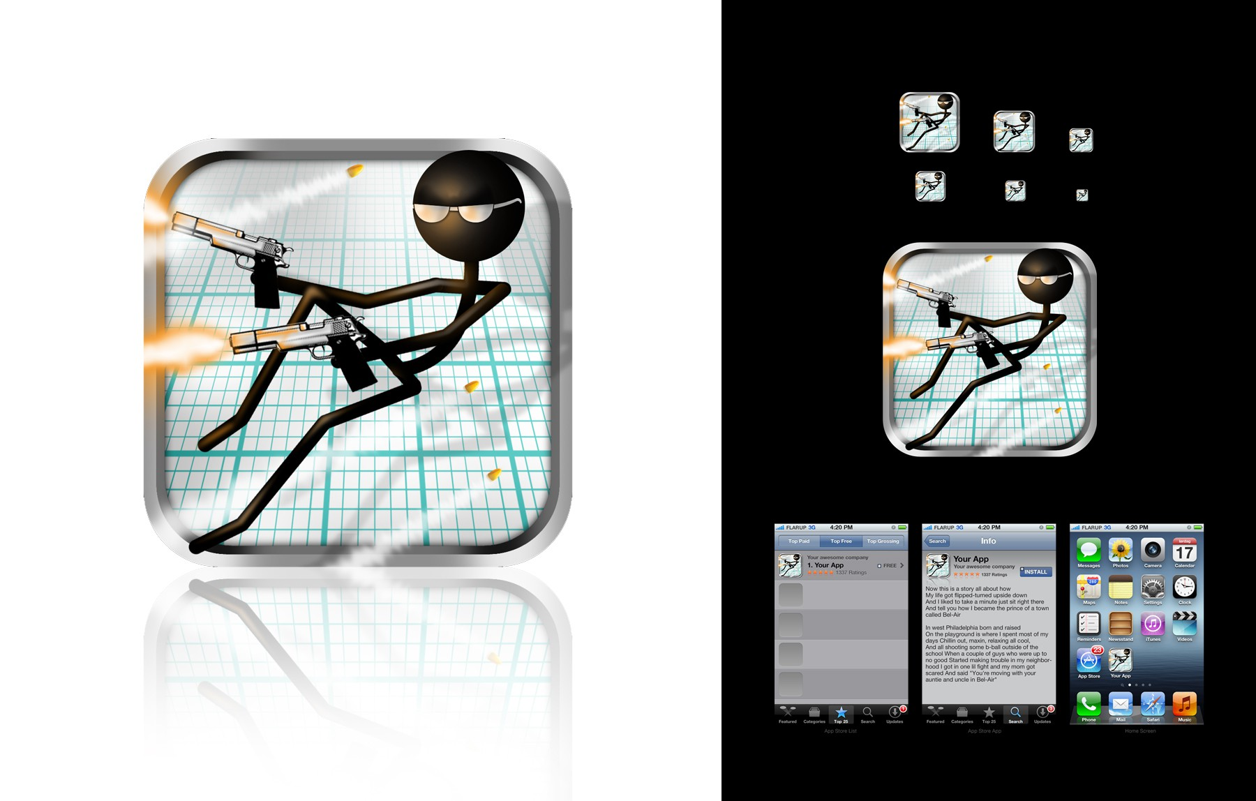 iOS game Gun Fu: Stickman Edition needs a new icon!