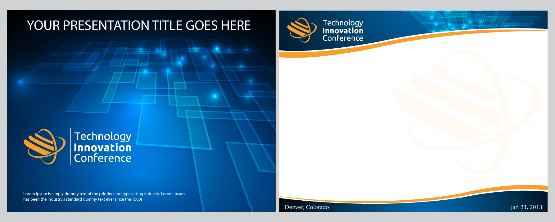 Create the next PowerPoint Template for Technology Innovation Conference