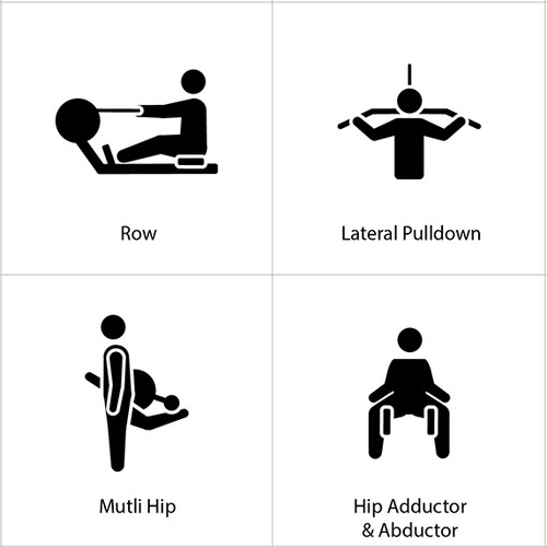 Nice Figure Man Icons for Health & Fitness Equipments