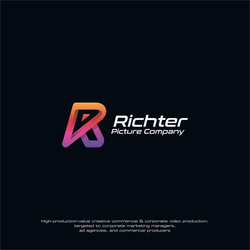 Modern Colorful Letter R logo concept