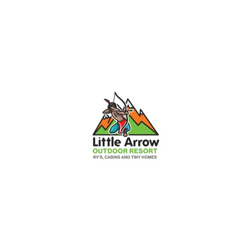 Logo for an Outdoor resort company