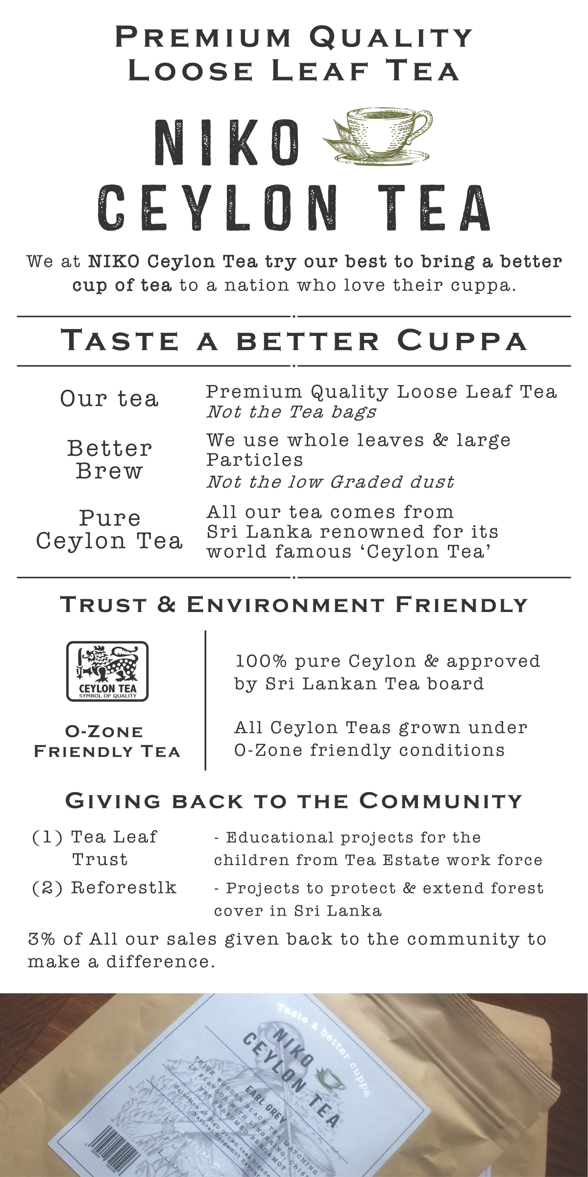 A leaflet design