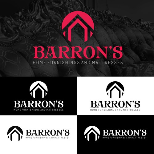 "Logo Works For BARRON'S ""Home Furnishings And Mattresses"""