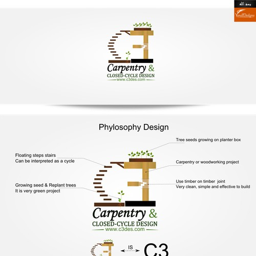 Create the next logo for Carpentry & Closed-Cycle Design