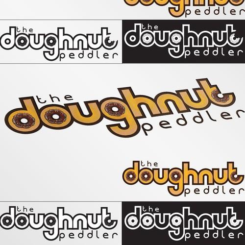 bold logo for doughnut peddler